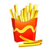 Francês frita — Vetor de Stock