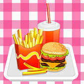 Fast food products. — Stock Vector