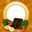 Nuts and chocolate — Stock Vector