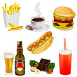 Stockvector : Set of fast food icons