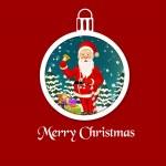 Christmas ball with Santa — Stock Vector