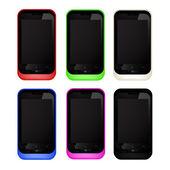 Mobile phones — Stock Vector