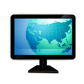 Computer monitor — Stock Vector