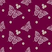 Wzór z motylami — Wektor stockowy