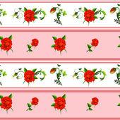 Seamless rose pattern — Stock vektor