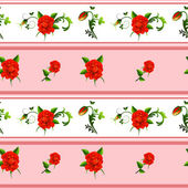 无缝的玫瑰花纹图案 — 图库矢量图片