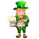 Cute fat Leprechaun .St. Patrick's Day — Stock Vector
