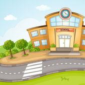 Illustration of School Building. — Stock Vector