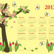 2013 Colorful calendar — Stock Vector