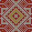 Seamless handmade cross-stitch ethnic pattern - Image vectorielle