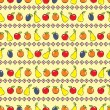 Royalty-Free Stock Vector Image: Yellow background with fruits