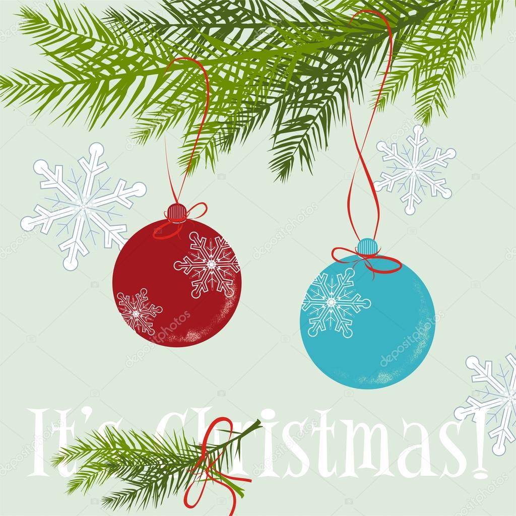 Vector illustration - Christmas Background with Christmas ball — Vettoriali Stock  #12107630