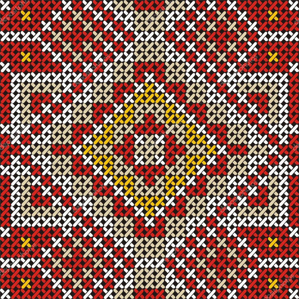 Вышивка крестом этническая