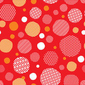 Red background with dots pattern — Stock Vector