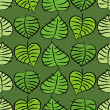 Vector de stock : Background with leaves.