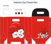 Design for gift box. — Stock Vector