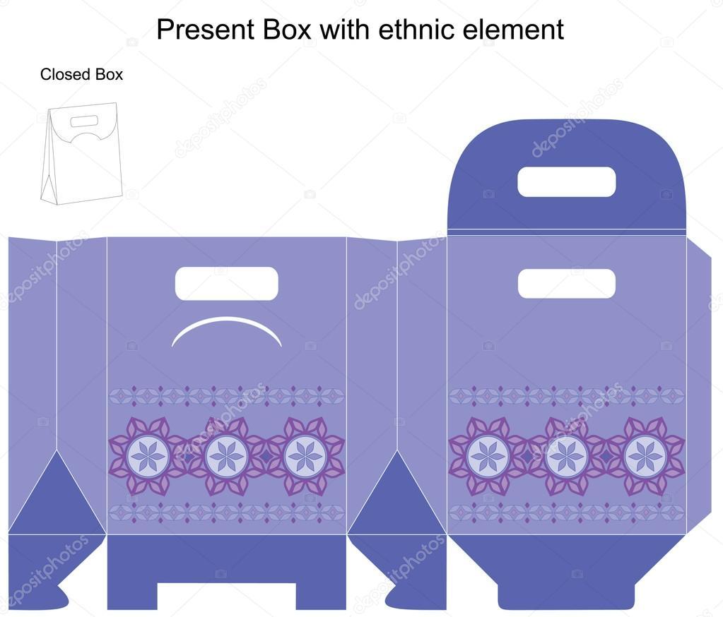 vector design template for gift box stock vector copy elenasz  template present box in blue colours vector illustration vector by elenasz