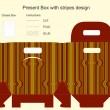 modello per scatola regalo con disegno a strisce — Vettoriale Stock