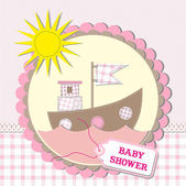Baby shower scrapbooking card design — Stock Vector