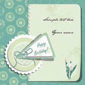 Vintage Birthday Card. Scrapbooking style. — Stock Vector