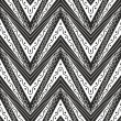 Stock Vector: Zig zag seamless pattern in black and white colour