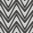 Zig zag seamless pattern in black and white colour - Stock Vector
