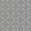 Zigzag pattern with black and white line - Stock Vector