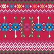 Seamless ethnic pattern background - 图库矢量图片