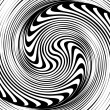 Stock Vector: Black and white spiral optical illusion