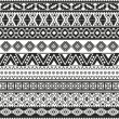 Tribal seamless pattern - aztec black and white background — Stock Vector