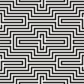 Black and white zigzag pattern — Stock Vector