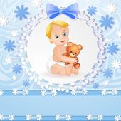 Baby boy background — Stock Vector