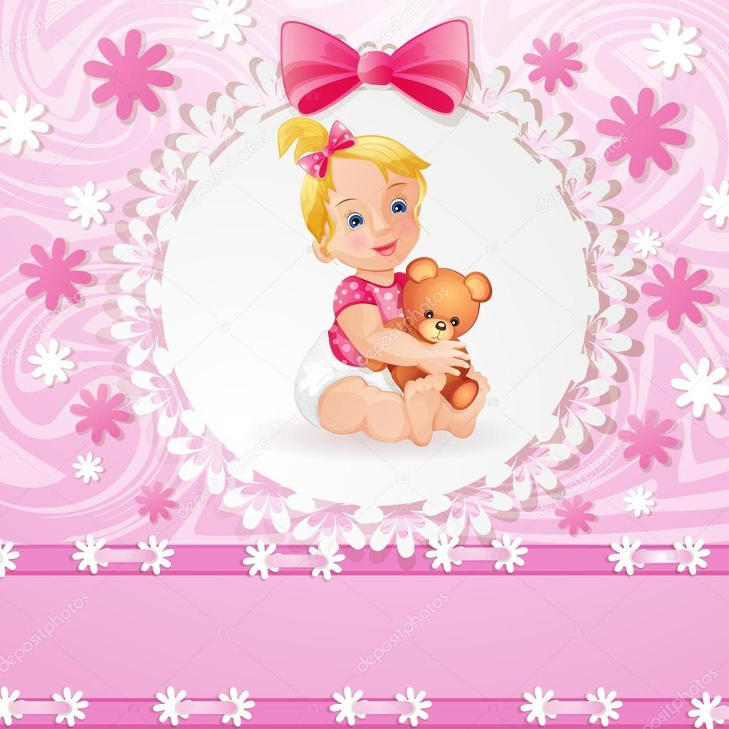 Baby girl background — Stock Vector © loradoraa #13536199