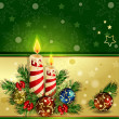 Royalty-Free Stock Vector Image: Christmas background with burning candles