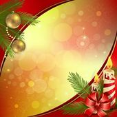 Beautiful Christmas background with burning candles — Stock vektor