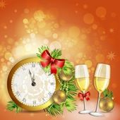 Greeting card for new year's eve — Stock Vector