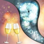 New year's eve greeting card — Stock Vector