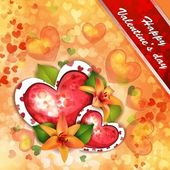 Valentine's day card with beautiful flowers — Stock Vector