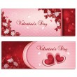 Valentine's day banners — Stockvectorbeeld