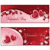 Valentine's day banners — Vetorial Stock