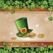 Saint Patrick's Day card — Vettoriali Stock