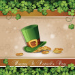 Saint Patrick's Day card — Stockvectorbeeld