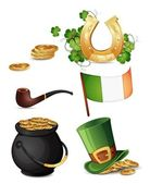 Saint Patrick's Day symbols — Vecteur