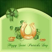 Saint Patrick's Day card — Stockvector