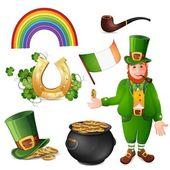 Leprechaun and Saint Patrick's Day — ストックベクタ