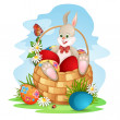 Royalty-Free Stock Vector Image: Cute Easter bunny