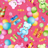 Seamless pattern for birthdays — ストックベクタ