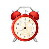 Old-fashioned alarm clock — Stock Vector