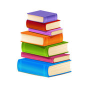 Renkli kitap yığını — Stok Vektör