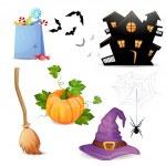 Set of Halloween elements. — Stock Vector #34030663